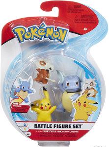 Pokémon - Jazwares - Action Figure Pack - Cubone - Pikachu - Wartortle.
